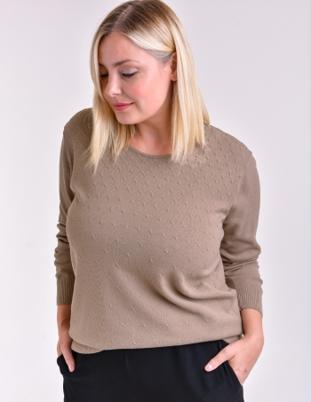sweater mujer con fantasia marron