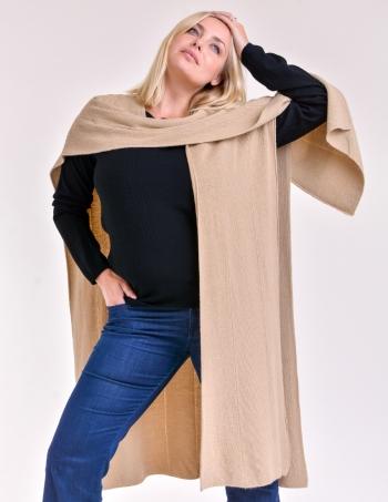 ruana tejida mujer maiz