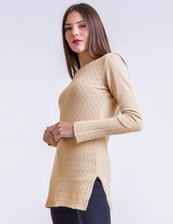 sweater largo con fantasia mujer
