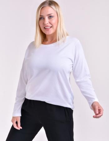 remera manga larga mujer blanca