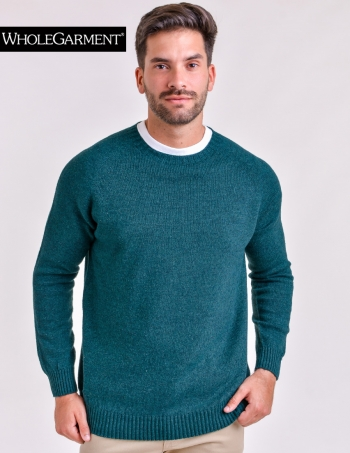 sweater hombre cuello redondo petroleo