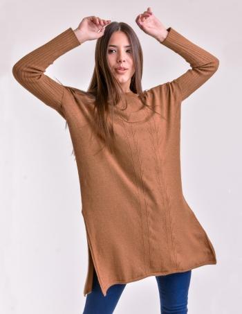 sweater marron largo