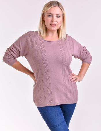 sweater con fantasia mujer rosa